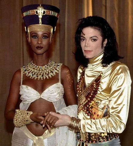 Iman and michael jackson set of remember the time
