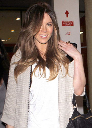 Kate Beckinsale Arriving On A Flight At LAX