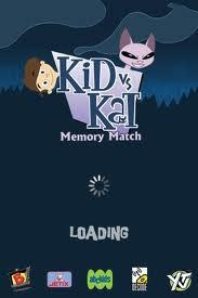 Kid vs. Kat memory match game for iPhone