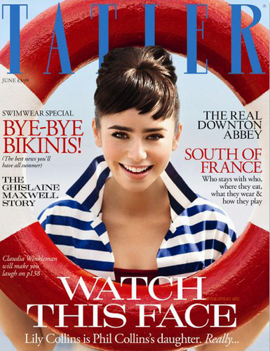 Lily Collins in UK Junio 2011