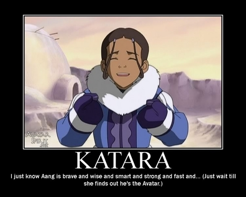 katara is suprised