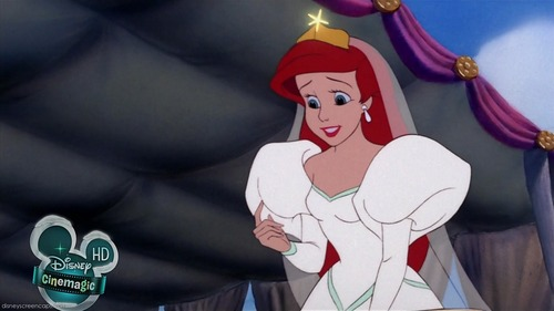 Ariel in her Wedding