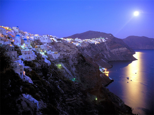 Greece At Night