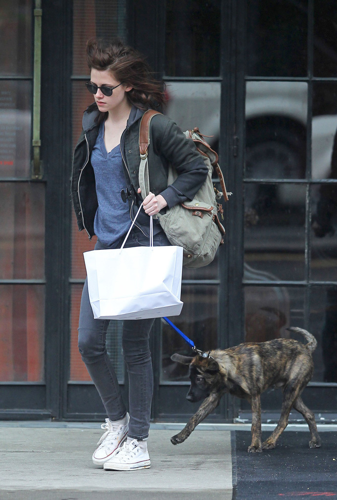 Kristen with orso in NYC