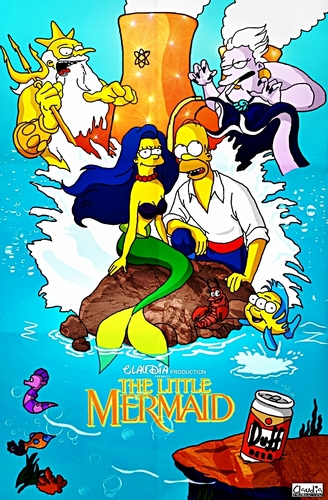 The Simpsons as The Little Mermaid