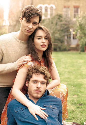 Harry Lloyd with Emilia Clarke and Richard Madden