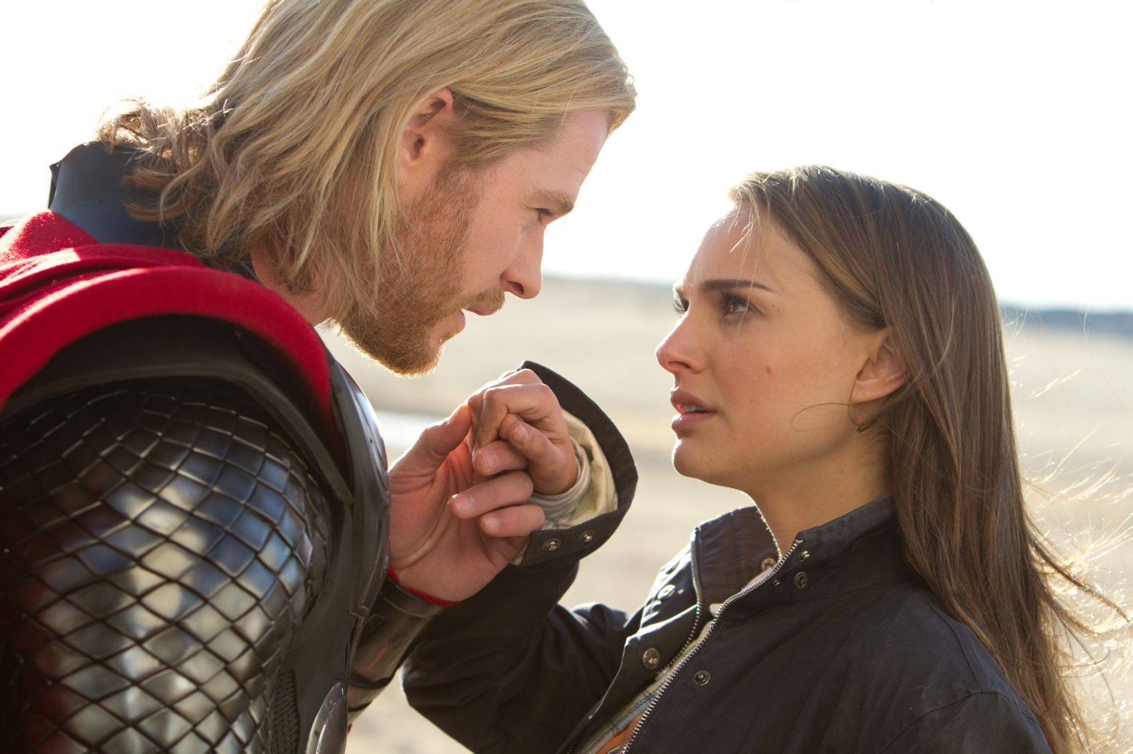 Thor and Jane Foster before Thor dumped Jane for some poptarts.