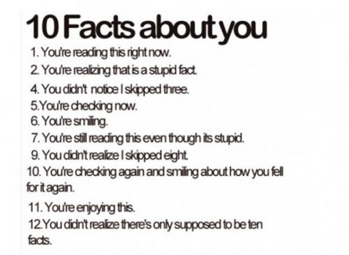 10 facts 'bout u