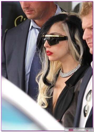 Lady Gaga Lands In Paris