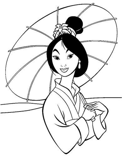 Walt Disney Coloring Pages - Mulan