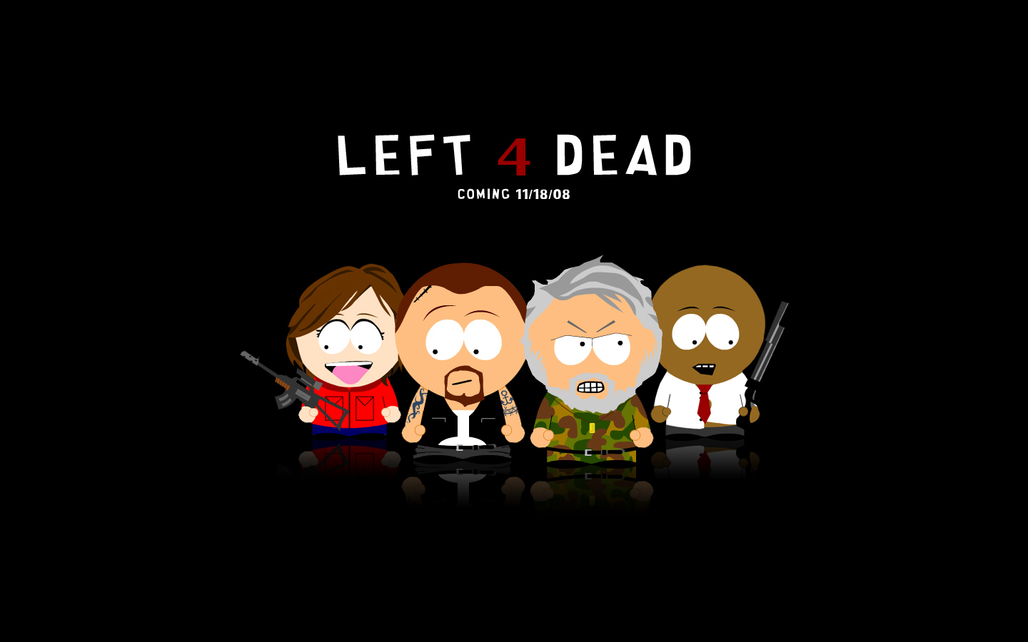 Left 4 Dead characters South park animated version south park 22035991 1440 900