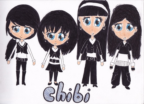 The girls as chibi!