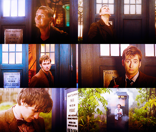 The ninth, tenth and eleventh Doctors