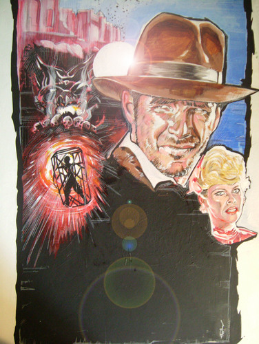 indiana jones and the temple of doom painting
