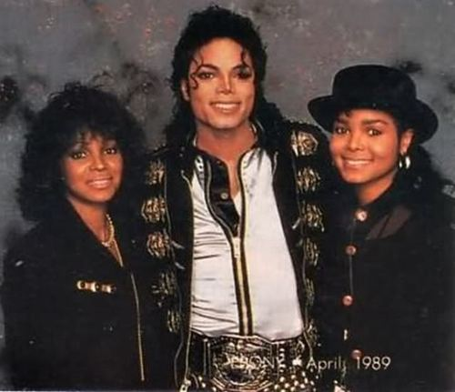 Michael Jackson with his Sister's During the Bad Tour [= <3