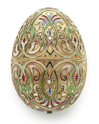 Russian silver Easter Egg