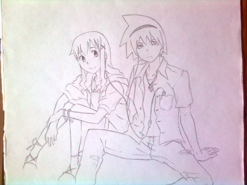Souleater Evans and Maka Albarn