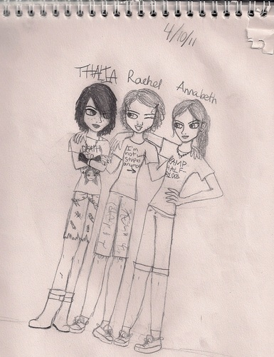 Thalia, Annabeth, and Rachel