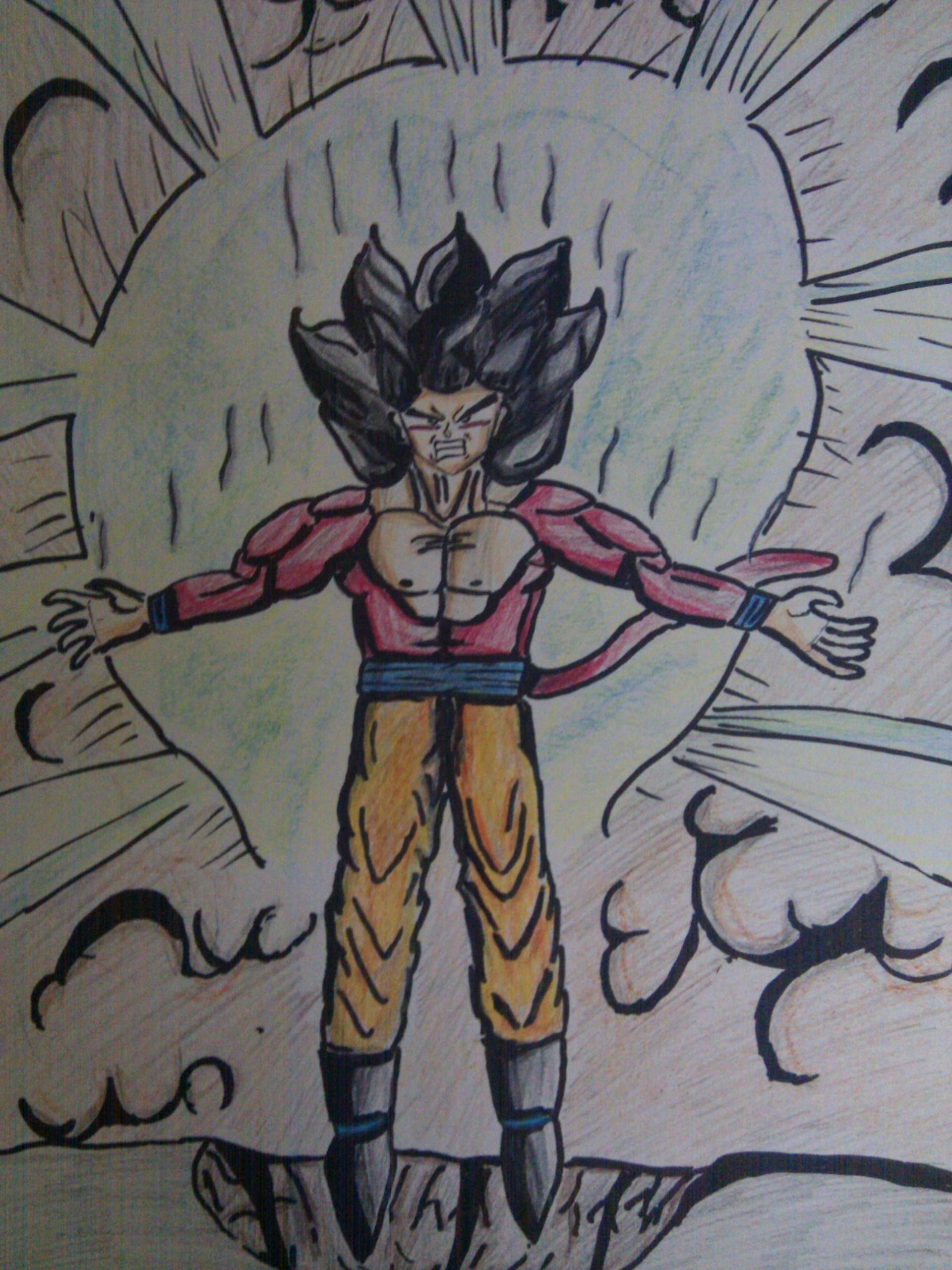 Angry Goku Ssj4 Dragon Ball Z Fa Art 22171236 Fanpop