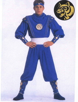 Billy as the blue Ninja Ranger