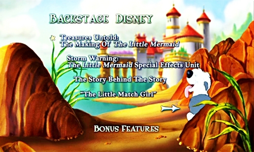 Walt 디즈니 DVD Menus - The Little Mermaid
