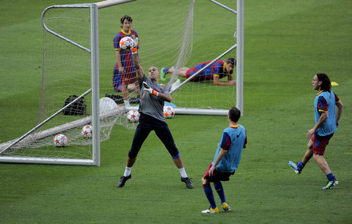 FC Barcelona Media Open jour Ahead Of UEFA Champions League Final (Training)