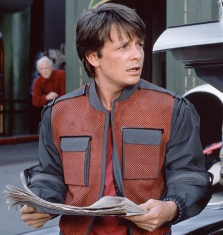 Michael J. Fox as Marty McFly ` Back to The Future!