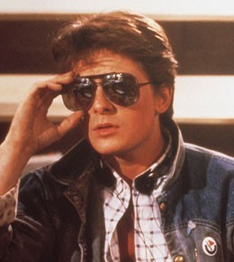 Michael J. लोमड़ी, फॉक्स as Marty McFly ` Back to The Future!