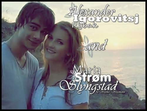 Alexander Igorovitsj Rybak and Maria Strøm Slyngstad the Sweet Cuople !