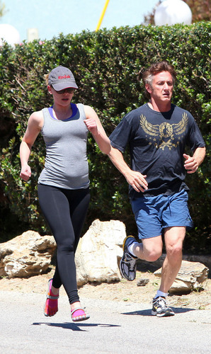 Scarlett Johansson spotted out jogging in Malibu, Apr 10