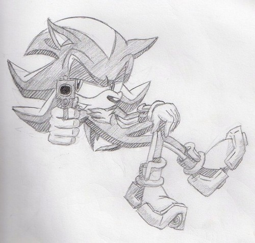 Shadow with  a gun!!