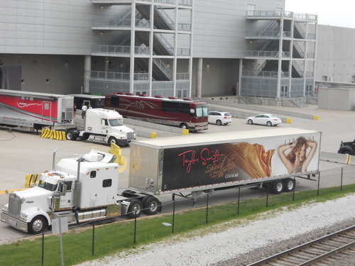 Taylor Swift TOur buses in Omaha