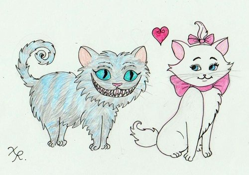 cheshire cat and marie