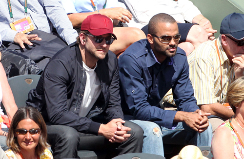 At French Open with Tony Parker