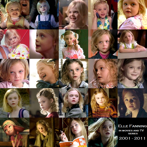 Elle Fanning on the screen (2001 - 2011)