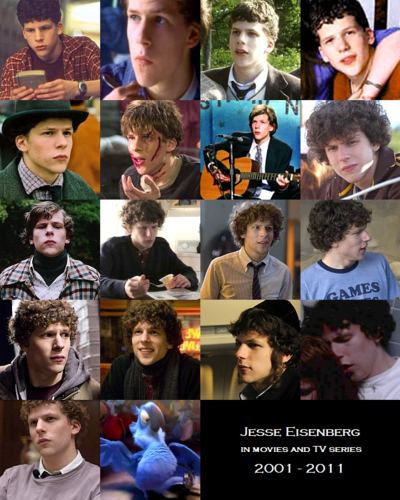 Jesse Eisenberg on the screen (2001 - 2011)