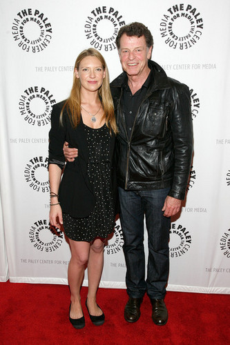 John Noble and Anna Torv