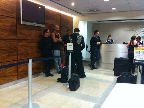 Rammstein at the airport