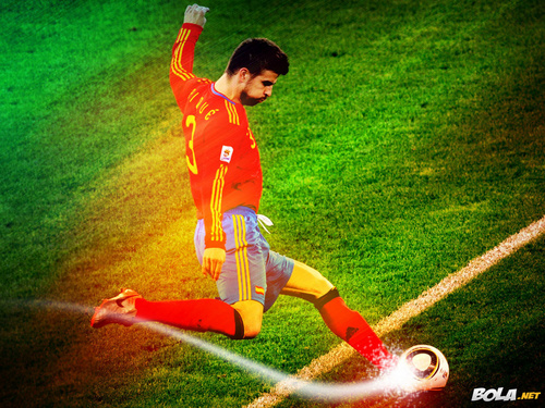 Gerard Piqué Spanish National Team wolpeyper