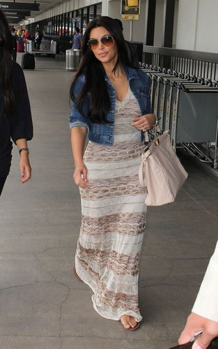 Kim Kardashian leaving LAX Airport (June 4).