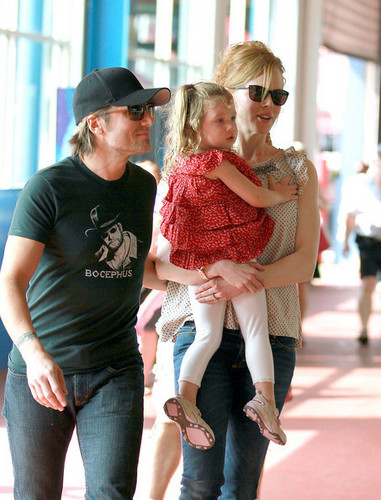 Nicole Kidman and Keith Urban at Chelsea Piers with Sunday Rose
