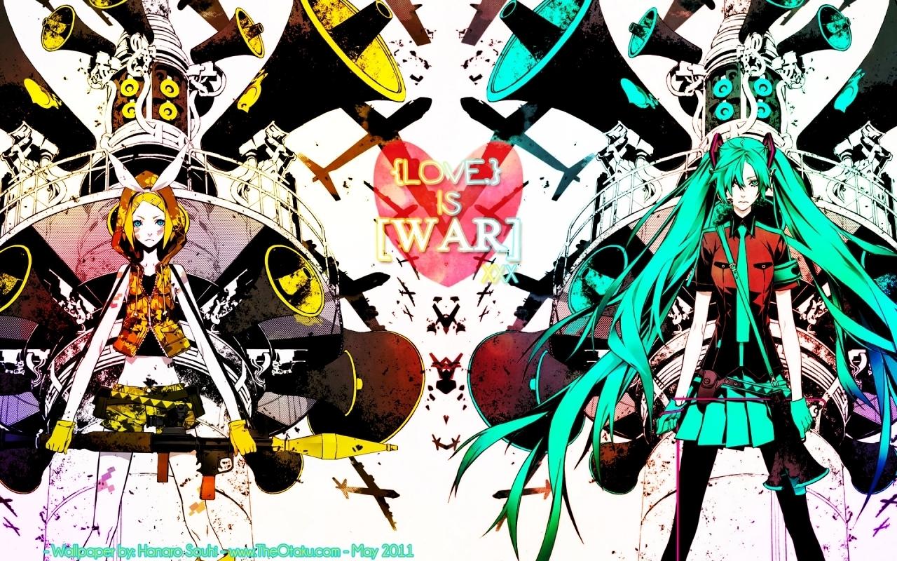 Rin And Miku Love Is War Vocaloids Wallpaper 22640138 Fanpop