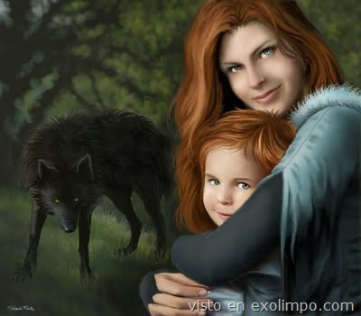 Catelyn and Rickon