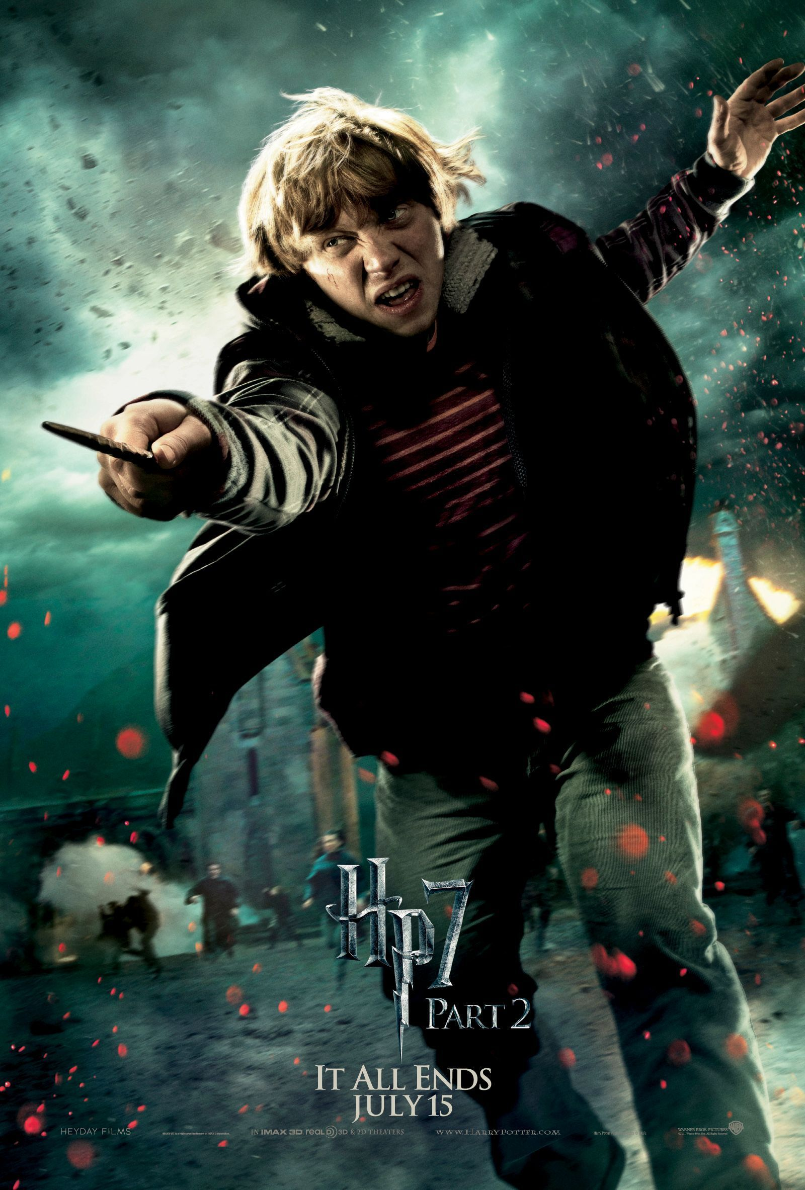 Deathly Hallows Part 2 Action Poster:  Ron Weasley [HQ]