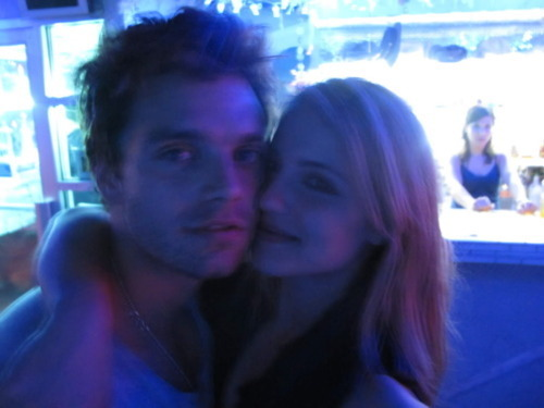 Dianna and Sebastian Stan.