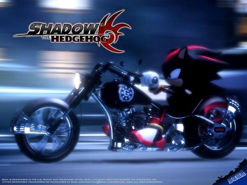 SHADOW ON HIS MOTORCYCLE