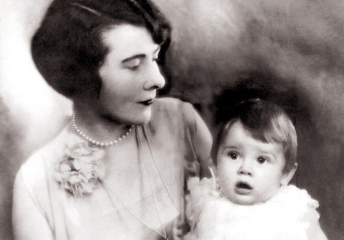 Audrey with her mother,her mother ,a Dutch baroness.