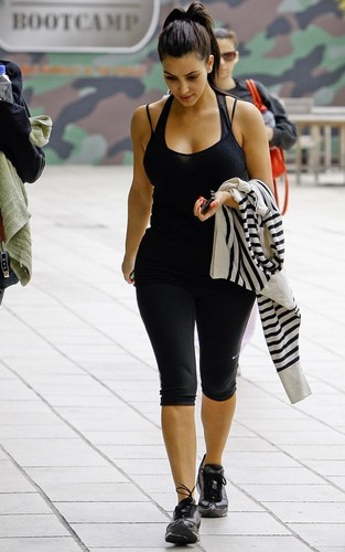 Kim Kardashian at the gym in Studio City (June 12).
