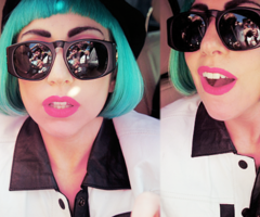 Lady Gaga w/ Blue Hair