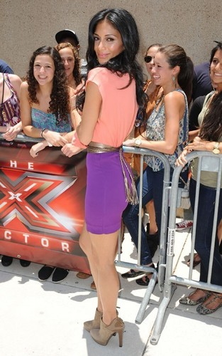 "Nicole Scherzinger arrived at the Miami ""X Factor"" auditions held at the University of Miami"